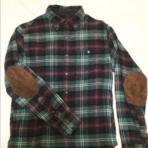 J. Crew Men's Small Flannel Shirt w/ ELBOW PATCHES